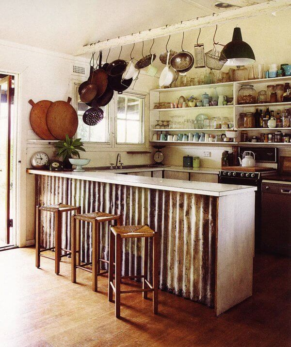 salvaged kitchen