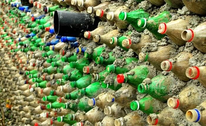plastic bottle school