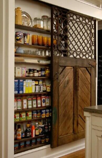 recycling-old-doors-pantry-sliding-wood-door