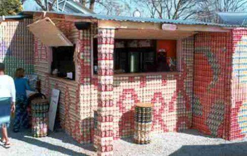 aluminum can house