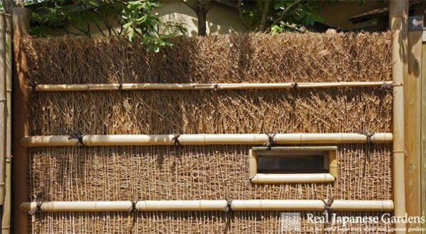 brushwood bamboo fence