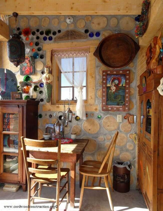 Cordwood Construction • Insteading on cob homes design, log homes design, simple small house design, brick homes design, straw homes design, prefab round home design, yurt home design, earthship homes design, energy homes design,