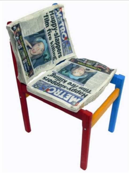 newspaper chair  sc 1 st  Insteading & Upcycled Chairs u2022 Insteading
