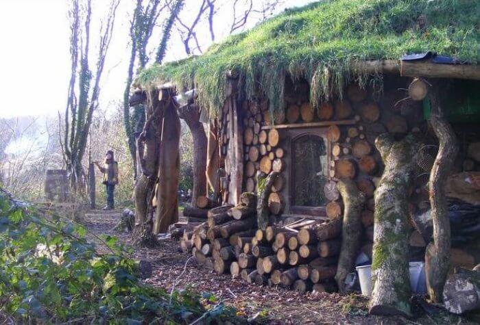 cordwood building