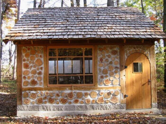 cordwood construction